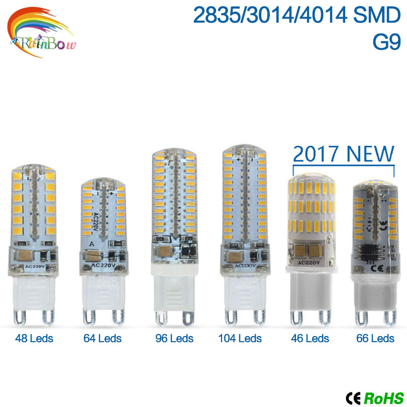 Lowest price 2017 Newest 220V G9 G4 LED Lamp led Lampada LED g4 g9 Bulb 360 Beam Angle Lights 2835 3014 4014SMD led corn bulbs(China (Mainland))