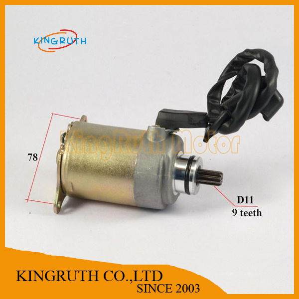 ATV Chinese Motorcycle Starter for Chinese GY6 150cc Engines Shaft D11 9 teeth(China (Mainland))