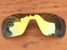 24K Golden Mirror Polarized Replacement Lenses For Offshoot Sunglasses Frame 100% UVA & UVB Protection