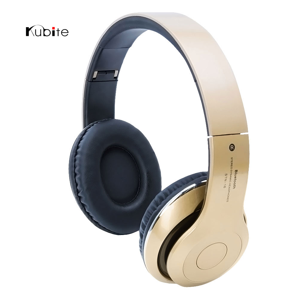Original Kubite Wireless Bluetooth Headset Headphone Foldable Universal Stereo Earphone With Mic Handsfree For iPhone Samsung <br><br>Aliexpress