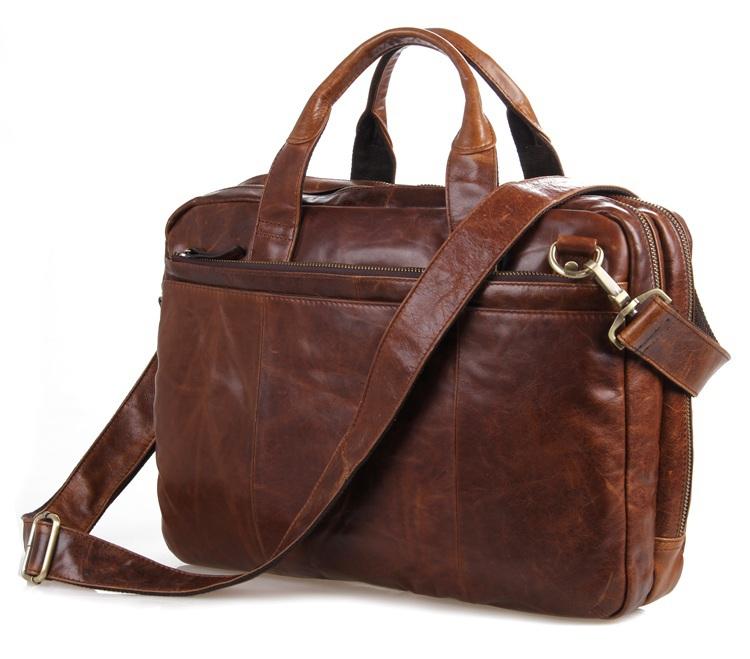 7092-2B Free shipping High Quality JMD Mens Genuine Oily Leather Laptop Bag Shoulder Briefcases Handbag<br><br>Aliexpress