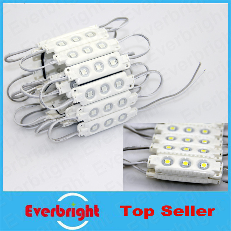20 pcs/Lot 5050 LED Modules Waterproof IP65 Led Modules DC 12V SMD 3 Leds Sign Led Backlights For Channel Letters White(China (Mainland))