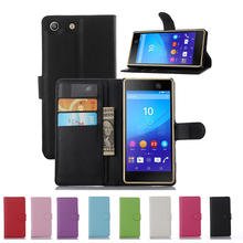 Buy Phone Capa Coque Sony Xperia M2 M4 M5 Aqua Dual Wallet Leather Cover Case Sony M 2 4 5 S50 e2303 e2333 E5603 E5606 E5653 for $3.19 in AliExpress store