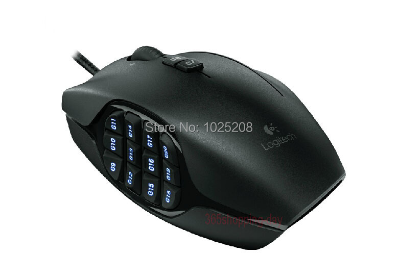 100% Logitech G600 MMO GAMING MOUSE CF lol wow GAMING-GRADE LASER,12 thumb buttons<br><br>Aliexpress