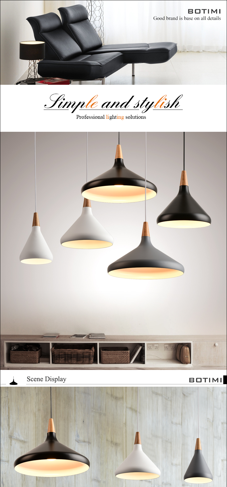 BOTIMI Nordic Retro Pendant Lights For Dining Kitchen Lampadario Vintage Metal Hanging Lamp Indoor Luminaria Light Fixtures