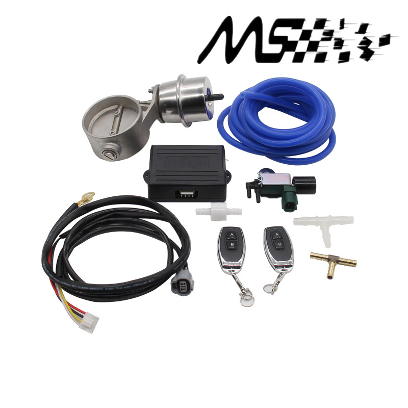 Exhaust Control Valve Set With Vacuum Actuator CUTOUT 2.5 63mm Pipe CLOSE STYLE with Wireless Remote Controller <br><br>Aliexpress