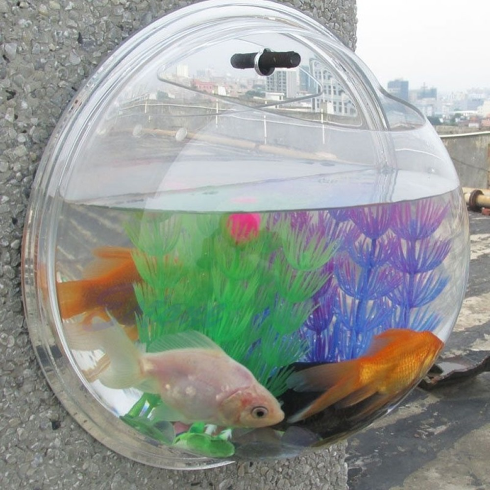 Hot Fish Tank Wall Mounted Bowl Aquarium Wall Hanging