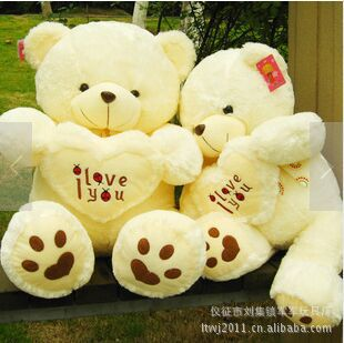 Free Shipping Large 90 cm Teddy Bear Stuffed Animals Toys Plush Doll, Giant Stuffed Bear Plush Toy For Girl Friend/Children(China (Mainland))