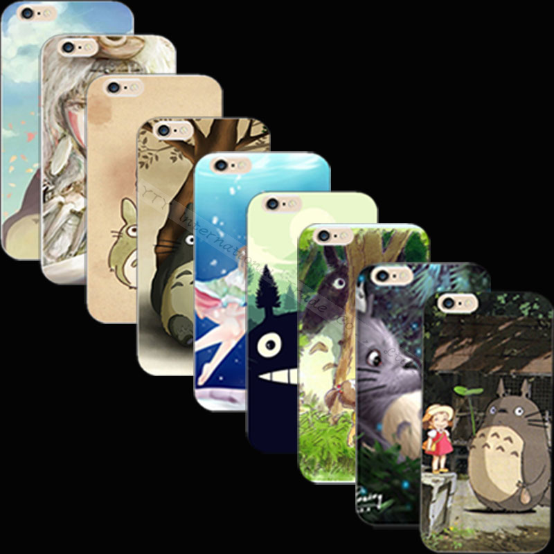 Top Popular Silicon Painting Totoro Scenery Phone Cover Case For Apple iPhone 5 iPhone 5S iPhone5S Cases Shell JNV XVN AVG QUX(China (Mainland))