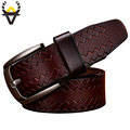 New 2017 Fashion Cow Genuine leather belts men Luxury belt man Designer Pin buckle strap High