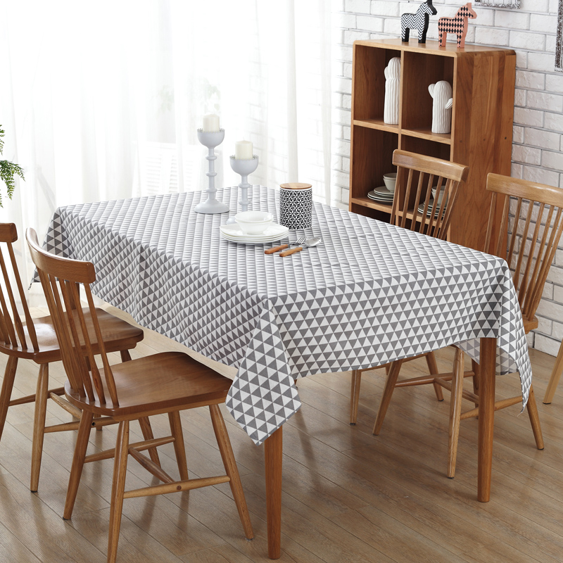 2017 Modern Simple Style Table Cloth gray geometry pattern Table Cloth Rectangular Wedding Decoration Tablecloth Toalha De Mesa(China (Mainland))