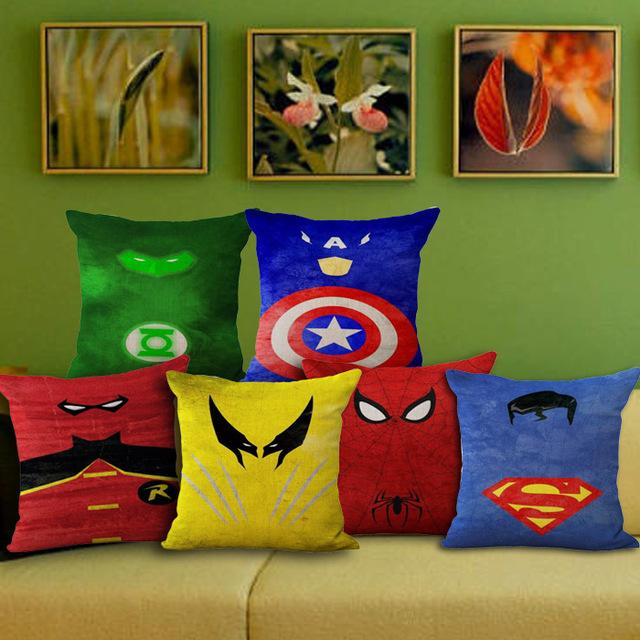 1 шт. творческий абстрактный герой супермен шаблон сиденья hug чехол декоративные домой председатель бросьте подушки чехол 45 * 45 см