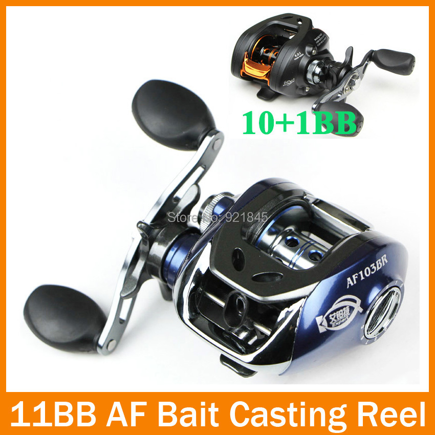 Blue/Black Baitcasting left/right Fishing Reel 6.3:1 R/L Hand Spinning lure Fishing Tackle Low Profile(China (Mainland))