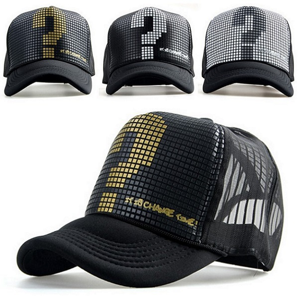 New Arrival Adult Casual Adjustable Polyester Fashion Unisex Men Women Boys Girl Trucker Classic Question Mark Baseball Cap Hat(China (Mainland))
