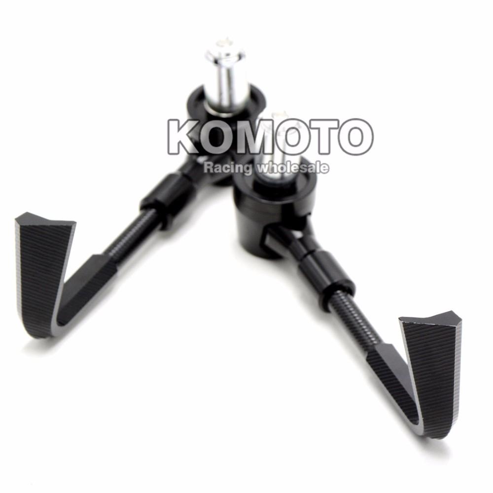 "Motorbike CNC 7/8""Handlebar Protector Lever Guard For KAWASAKI YAMAHA KTM DUCATI HONDA SUZUKI Aprilia Harley BMW Triumph Victory"