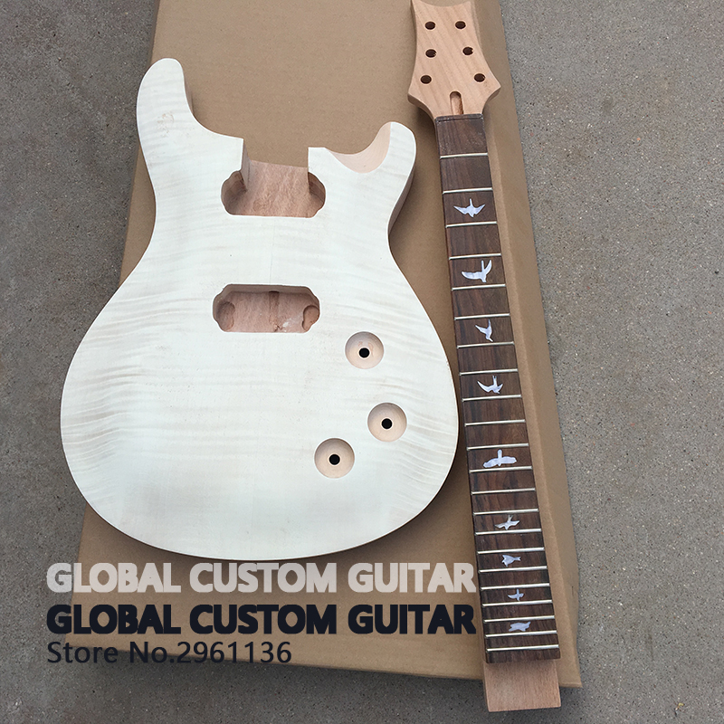 High quality electric guitar custom unfinished PRS guitar,Mahogany body,Real photos,China's guitar factory,free shipping(China (Mainland))