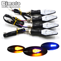 4 PCS 12V Universal Motorcycle Turn Signal Light Waterproof Amber And Blue Color 12 LED SMD
