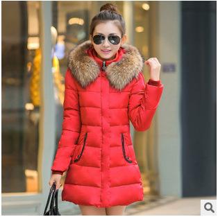 Plus size Lengthen warm down coat for winter Thickening Cotton Winter coat korean wadded hood warm winter coat women XL XXL XXXL
