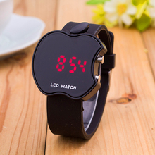 Fashion Casual Fruit Shape Students Children Watches 9 Colour LED Silicone Digital Watch Christmas Gift Children's Day