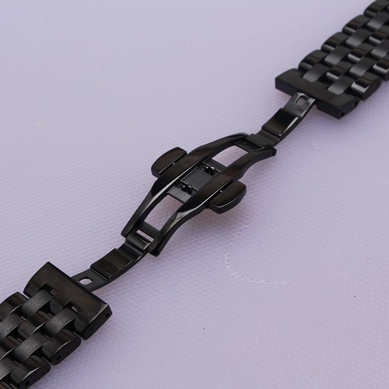 Черного Металла, нержавеющей стали ремешки для наручных часов новый 16 мм 18 мм 20 мм 22 мм 24 мм Ремешок Для Часов Браслеты fit Передач S2 S3 Классические Часы smart