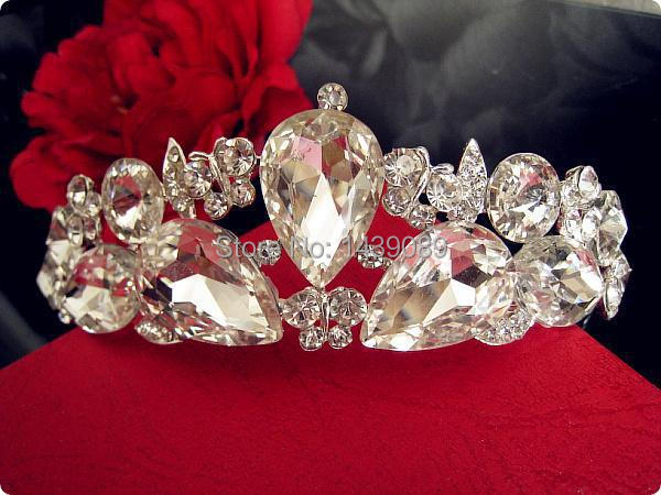 2015 New Real Freeshipping Vintage Flower Tiara Bridal Hair Accessories Wedding tiaras And Crowns Pageant Crown hair jewelry(China (Mainland))