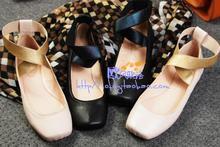 Free shipping new square head flat with flat shoes sheepskin pregnant women low heel ballet shoes big yards 34-41 women flats