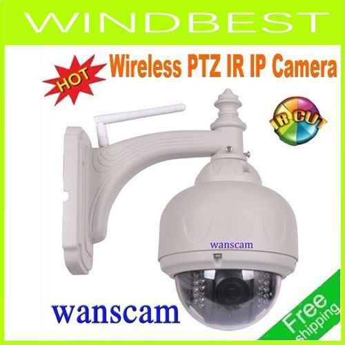 DHL/EMS Freeshipping Wanscam  New & Hot Wifi PTZ IR waterproof outdoor/indoor Mini speed Dome IP Camera AJ-C0WA-C0D8
