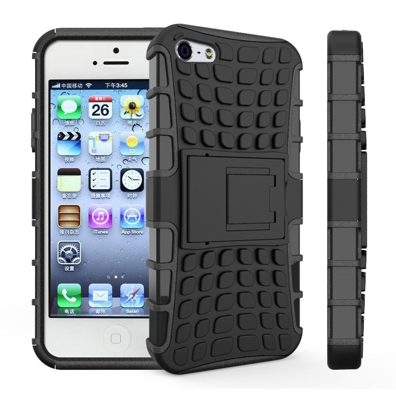 Case For iphone 5s Cover Soft Silicone Hard Plastic Case For iPhone 5 5s Fundas Holder