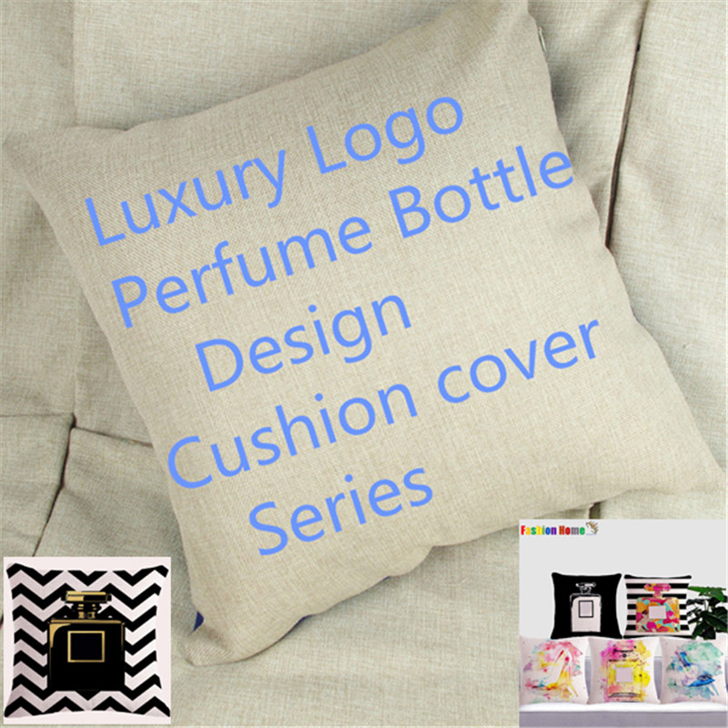 Wholesale Customization Channel Perfume Bottle Home Decor Sofa Car Seat Decorative Cushion Cover