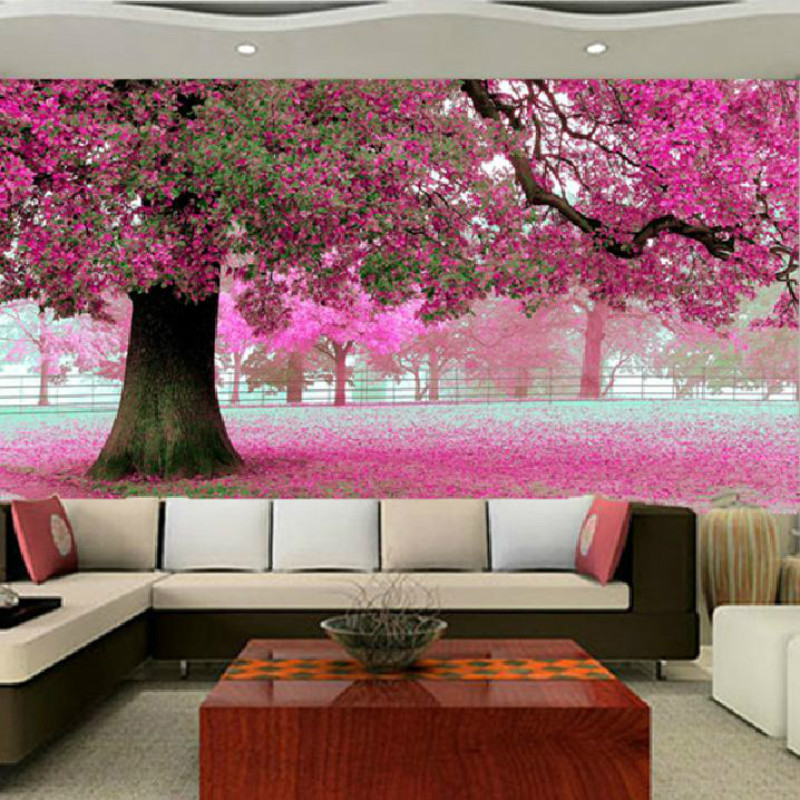 Tplp liquide aliexpress for Cherry blossom tree wall mural