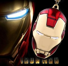 3 / pieces jewelry IRON MEN stereoscopic movie Iron Man mask pendant necklace Men