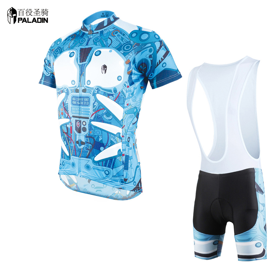 2016 New Cycling Suit Short Sleeve Blue Jerseys High Quality PALADINsports Armor Design 610<br><br>Aliexpress