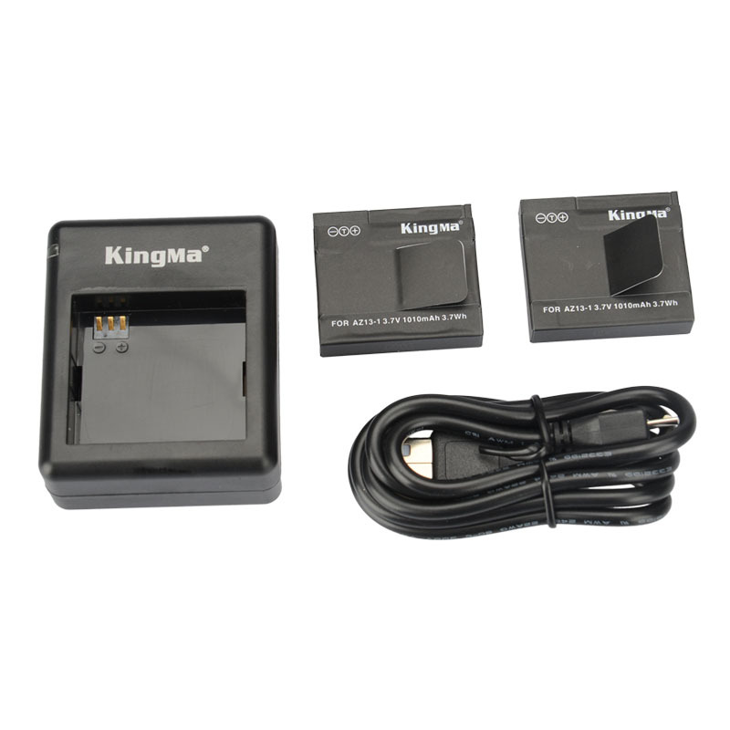 KingMa xiaomi yi battery 2 Pack 1010mAh and xiao yi battery Double Dual Charger for Xiaomi