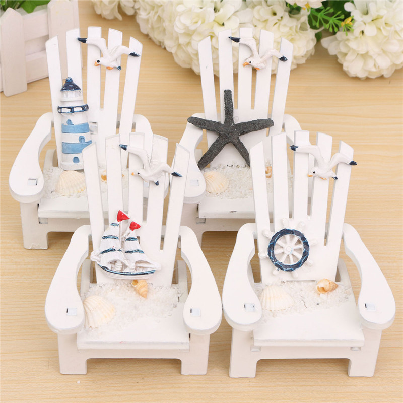 Fashion Mediterranean Style Wooden Chairs Mini Desktop Ornaments Home Doll Decorations Childern Gifts Toys Wood Crafts Decor(China (Mainland))