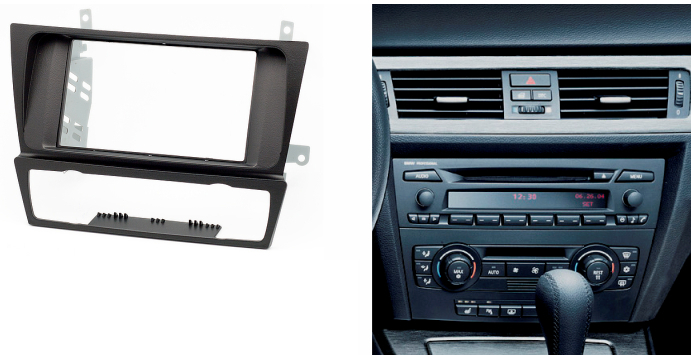 double din fascia for bmw 3 series e90 e91 e92 e93 2004 2012 radio cd dvd gps stereo panel dash. Black Bedroom Furniture Sets. Home Design Ideas