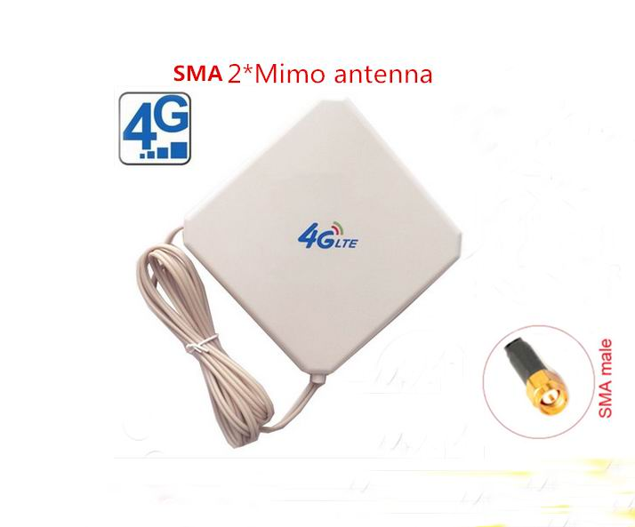 New Arrival 4G LTE SMA *2 Mimo indoor 700-2700mhz 35dbi magnetic antenna for huawei router(China (Mainland))