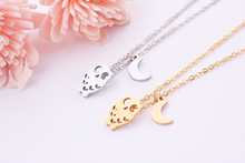 Women Moderm Jewelry Body Chain Pendant Colar Perola Owl With Moon Necklace(China (Mainland))