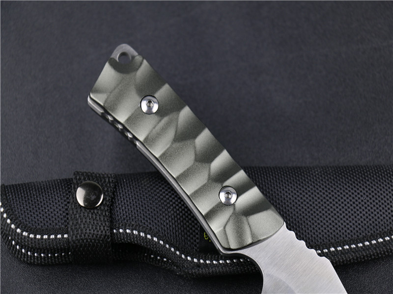 Buy k605A 3Cr13Mov Blade material Hardness 55HRC straight knife Swiss self-defense survival hunting military tactical knives cheap