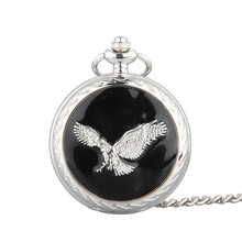 Buy Cindiry Vintage Eagle Wing Silver Quartz Pocket Watch Necklace Pendant Chain relogio de bolso P19 for $2.92 in AliExpress store