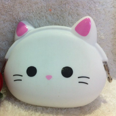 Sale!! Cute Animals Women Silicone Coin Purse Japanese Candy Color Jelly Silicone Coin bag Mini key Wallet(China (Mainland))