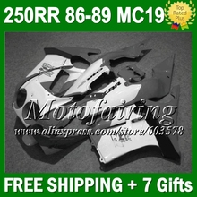 7gifts HONDA CBR250RR 86-89 MC19 Grey white 86 87 88 89 CL296 CBR 250RR CBR250 RR 1986 1987 1988 1989 Fairing - Motofairing store