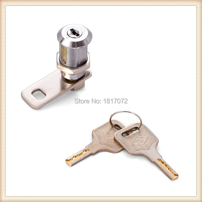 10 pieces security mailbox lock with 30mm 90 degree rotation zinc made lock housing and lock core(China (Mainland))
