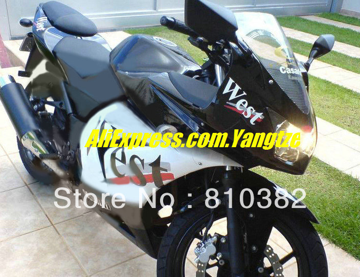 NEWEST Blcak white Fairing for KAWASAKI Ninja ZX250R 08-12 ZX-250R 2008-2012 ZX 250R EX250 08 09 10 11 12 2008 2012(China (Mainland))