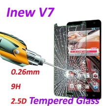0.26mm 9H Tempered Glass screen protector phone cases 2.5D protective film For iNew V7 -5.0Inch
