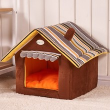 Hot Sale Cute House Dog Bed Pet Bed Warm Soft Dogs Kennel Dog House Pet Sleeping Bag Cat Bed Cat House Cama Perro(China (Mainland))