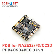 Buy CC3D NAZE32 SP Racing F3 PDB Power Distribution Board Integrated OSD Dual BEC 5V 12V CC3D NAZE32 F3 Flight Controller for $12.07 in AliExpress store