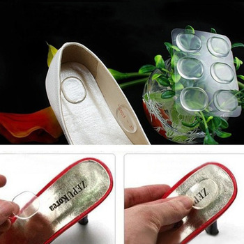 6 PCs/Sheet Women Ladies Girls Silicone Gel Shoe Insole Inserts Pad Cushion Foot Care Heel Grips Liner