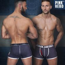 Cheap Wholesale Fashion Brand Mens Stripe Cotton Medium Boxer Penis Sexy Funny Men's Underwear Hombre Boxer Shorts