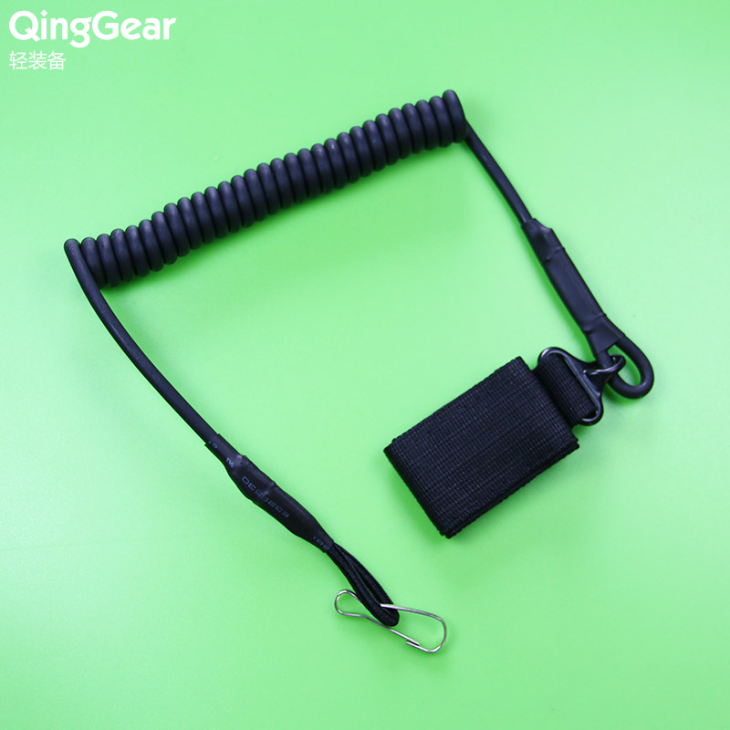 Adjustable Tactical Multipurpose Fastener Secure Elastic Spring Lanyard Sling with Belt Closure for outdoor gear,free shipping(China (Mainland))