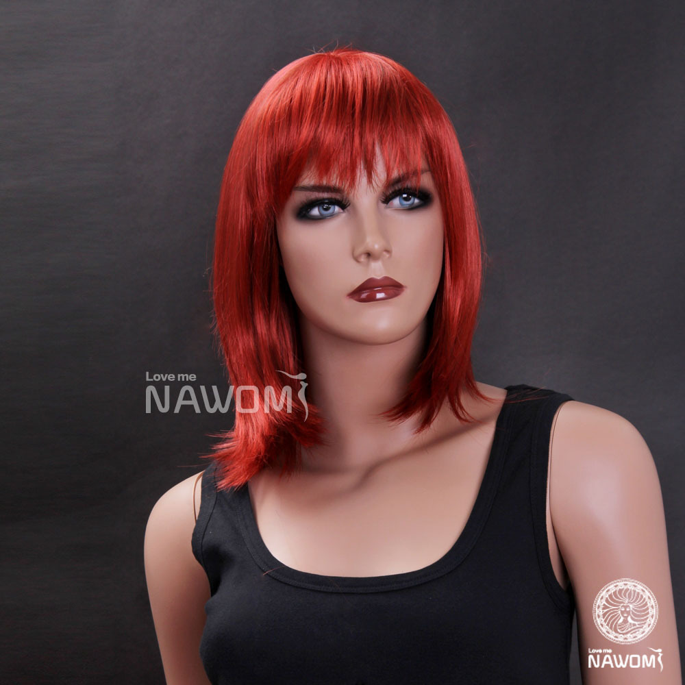 New 2015 Red Wigs,Anime Cosplay Synthetic Hair Women 100%Kanekalon Supernova Sale - Nawomi Wigs store